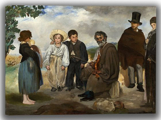 Manet, Edouard: The Old Musician. Fine Art Canvas. Sizes: A4/A3/A2/A1 (004109)